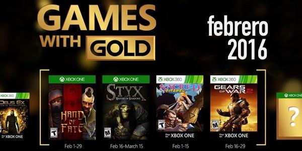 Juegos con Gold febrero 2016
