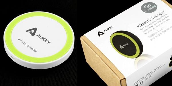 cargador inalámbrico Aukey Qi
