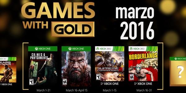 Juegos gratis con Gold Marzo 2016