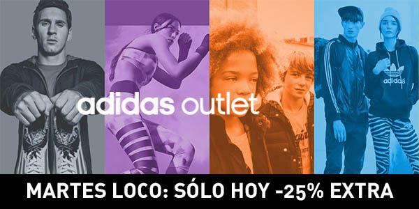 Martes Loco -25% Outlet Adidas