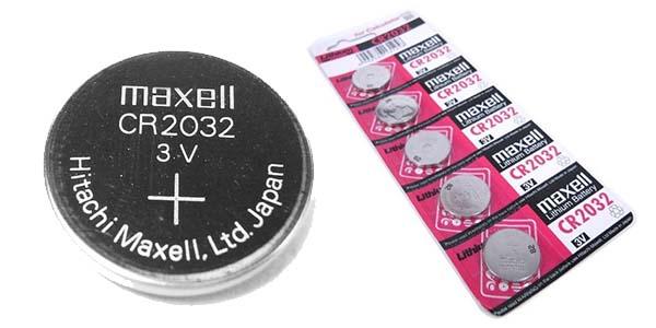 Pack 5 pilas litio CR-2032