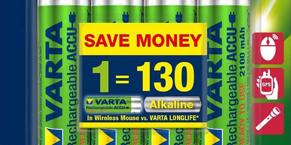 Varta Power Accu - Pilas recargables NiMH AA 2100 mAh