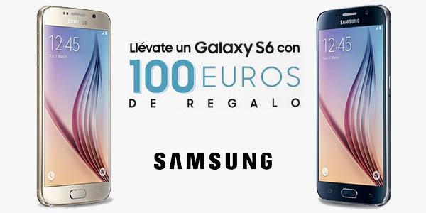 Promoción 100€ de regalo Samsung Galaxy S6