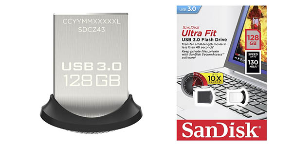 Pendrive de 128 GB invisible Sandisk