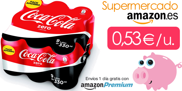 Coca-Cola Zero barata Supermercado Amazon