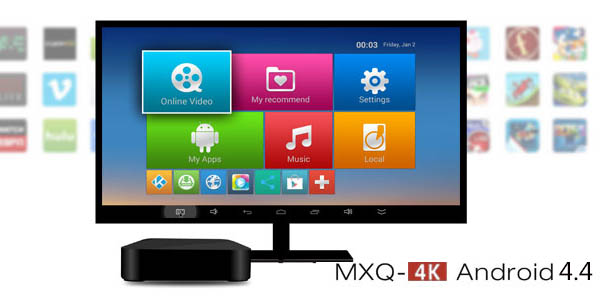 Reproductor multimedia MXQ 4K RK3229