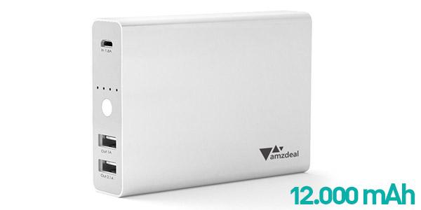 Batería portátil amzdeal 12.000 mAh