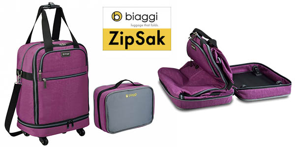 biaggi zipsak maleta viaje plegable con cupon descuento amazon marzo 2016