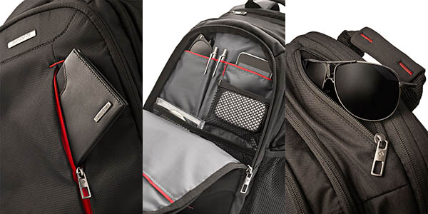 Detalles mochila Samsonite Guardit Laptop Backpack