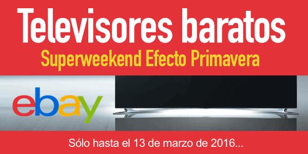 Televisores baratos eBay marzo 2016