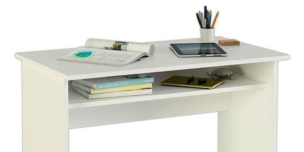 funcional escritorio de trabajo pequeño con balda inferior