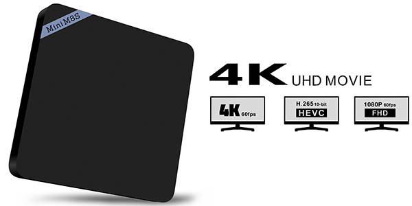 Reproductor multimedia Full HD y 4K