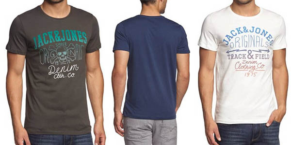 oferta camiseta jack and jones manga corta barata