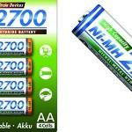 Pilas recargables Panasonic BK-3HGAE/4BE AA NI-MH 2700