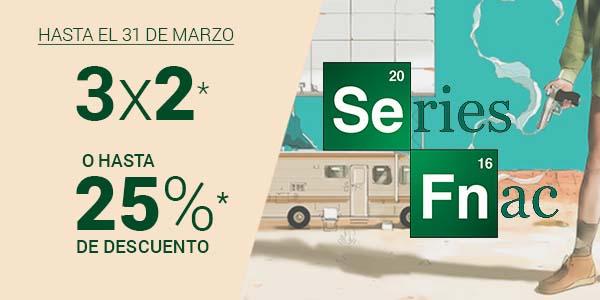 3x2 o 25% de descuento en series en Fnac