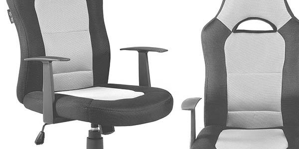 silla comoda de trabajo con respaldo alto y acolchada
