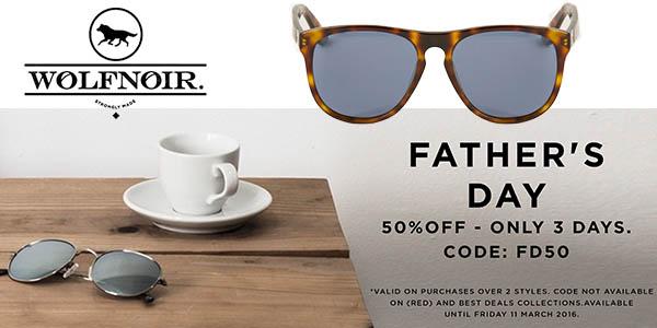 gafas wolfnoir al 50% descuento dia del padre