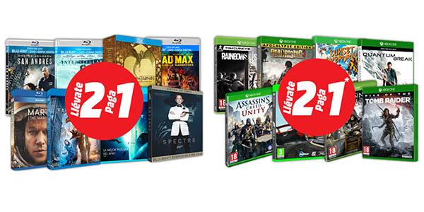 2x1 en Blu-ray y Juegos Xbox One