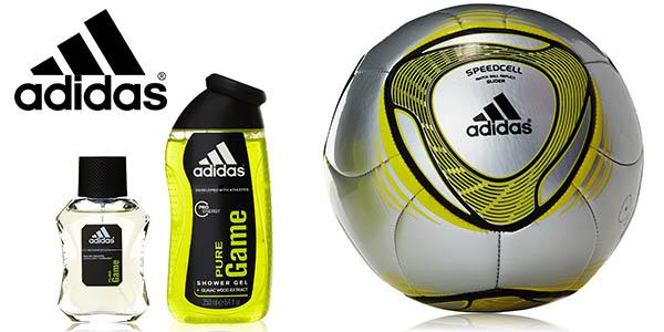 adidas pure game estuche barato compuesto por colonia gel y balon de futbol