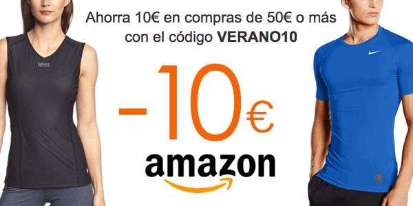 Cupón descuento ropa deportiva Amazon verano 2016