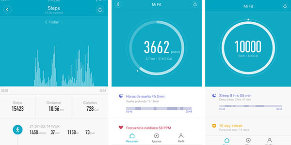 app mi fit xiaomi li-ning zapatillas con bluetooth