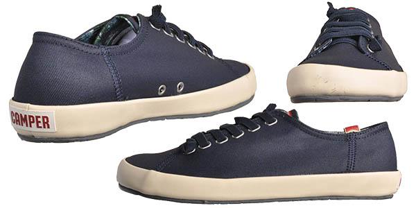 camper zapatillas comodas con cordones color azul marino