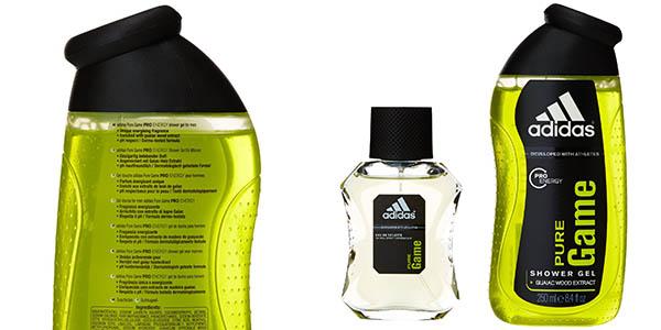 colonia adidas pure game 50 ml con shower gel 250 ml y balon de regalo