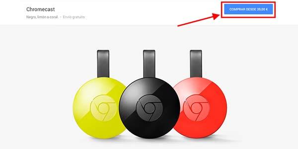 Comprar Chromecast 2 Google Store