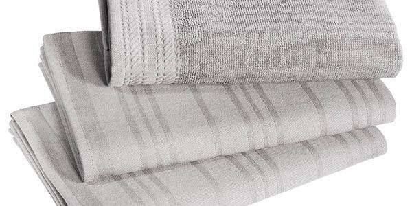 conjunto paños y toalla de manos absorbentes de algodon wmf