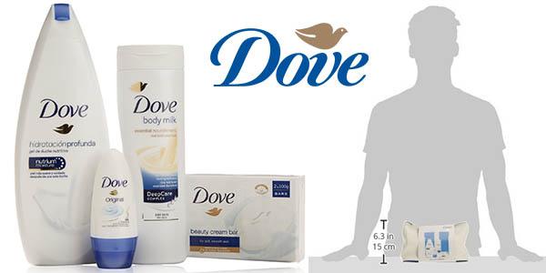 dove neceser women higiene personal con gel bodymilk desodorante pastilla y jabon a precio brutal