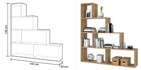 estantería Duehome Canadian Klum madera roble oferta