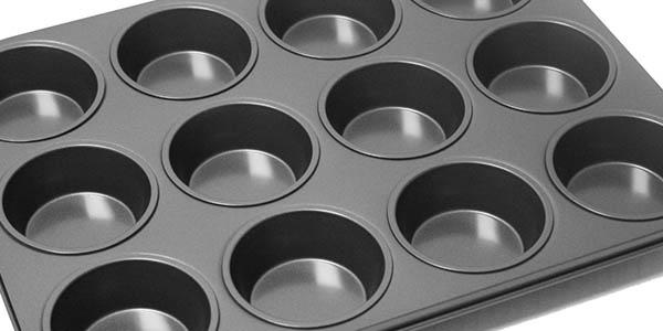 everyday baking molde de acero inoxidable para muffins de tamaño mediano