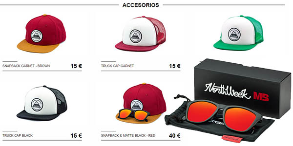 gafas de sol y gorras northweek baratas