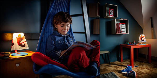 lampara infantil de spiderman philips marvel