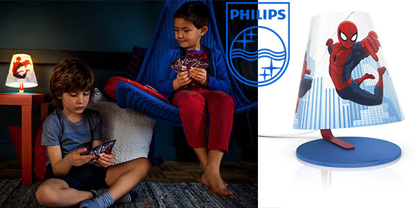 lampara de sobremesa philips marvel spiderman barata