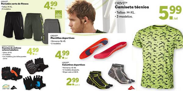 lidl ofertas ropa y complementos deportivos para hombre