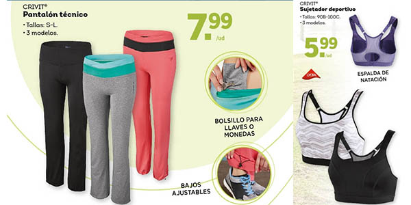 lidl ropa deporte para mujer barata