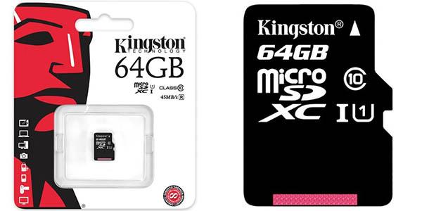 Tarjeta MicroSD Kingston 64GB Clase 10