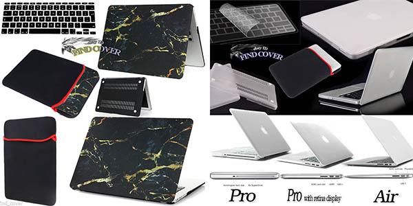 funda macbook barata con protector de teclado