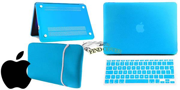 pack carcasa dura funda de neopreno y protector para teclado portatil mac barato