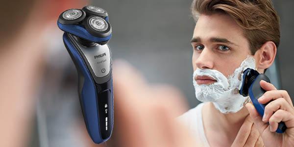 philips aquatouch s5600-12 maquinilla de afeitar con cortapatillas integrado