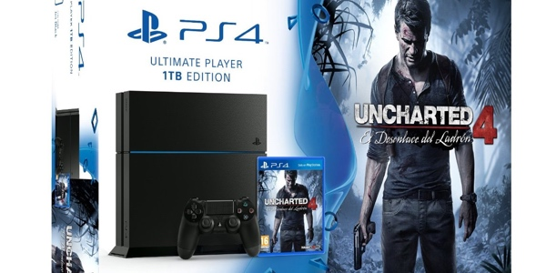 PS4 1TB barata Uncharted 4