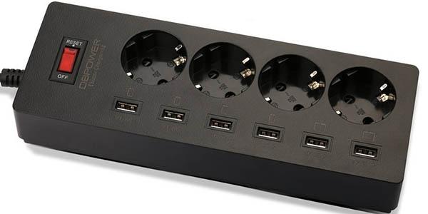 Regleta DBPOWER 4 enchufes + 6 USB