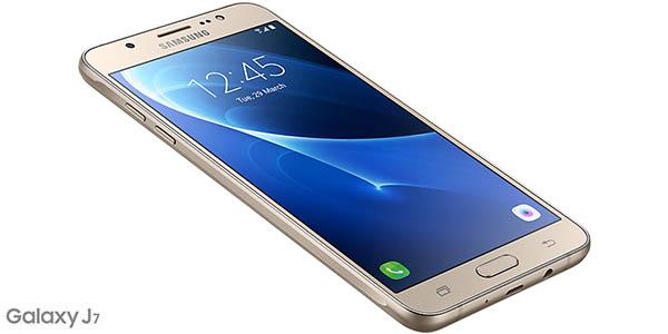 Samsung Galaxy J7 en dorado