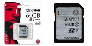 Tarjeta SD Kingston 64GB Clase 10