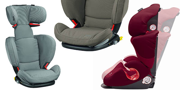 sillita infantil de coche con sistema isofix reclinable y ajustable en medida bebe confort de 15 a 36 kg