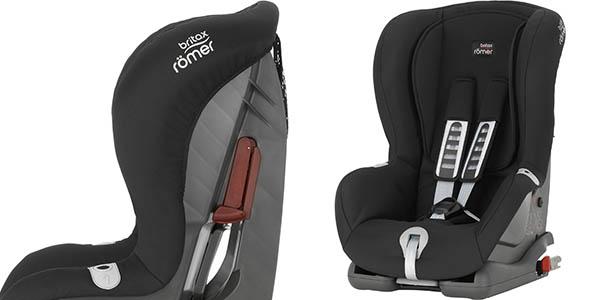 sillita segura para coche con isofix y sistema antichoques britax romer