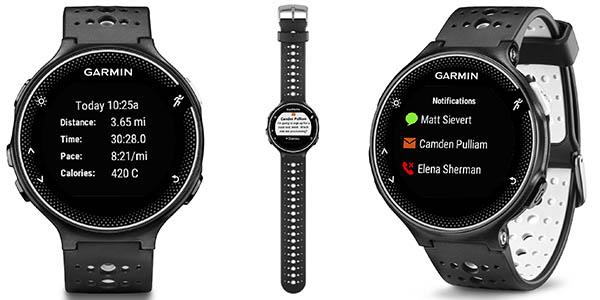 smartwatch con GPS y conexion a internet garmin forerunner 230