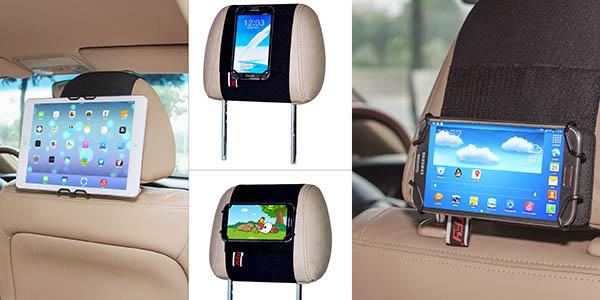 soporte estable para colocar dispositivos electronicos en el reposacabezas coche