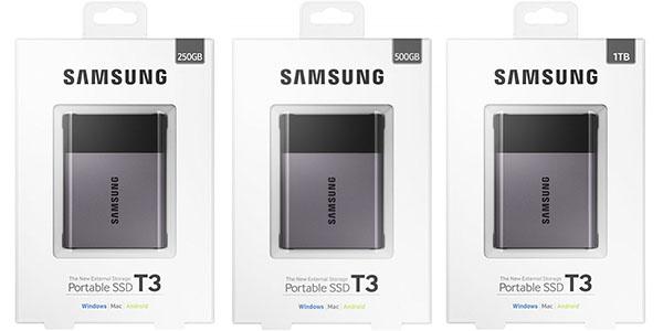 Diferentes capacidades Samsung T3